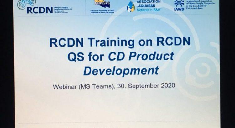 Webinar o standardima kvaliteta za razvoj proizvoda u okviru RCDN projekta